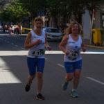 Una pareja de corredoras durante la prueba. /A.M.