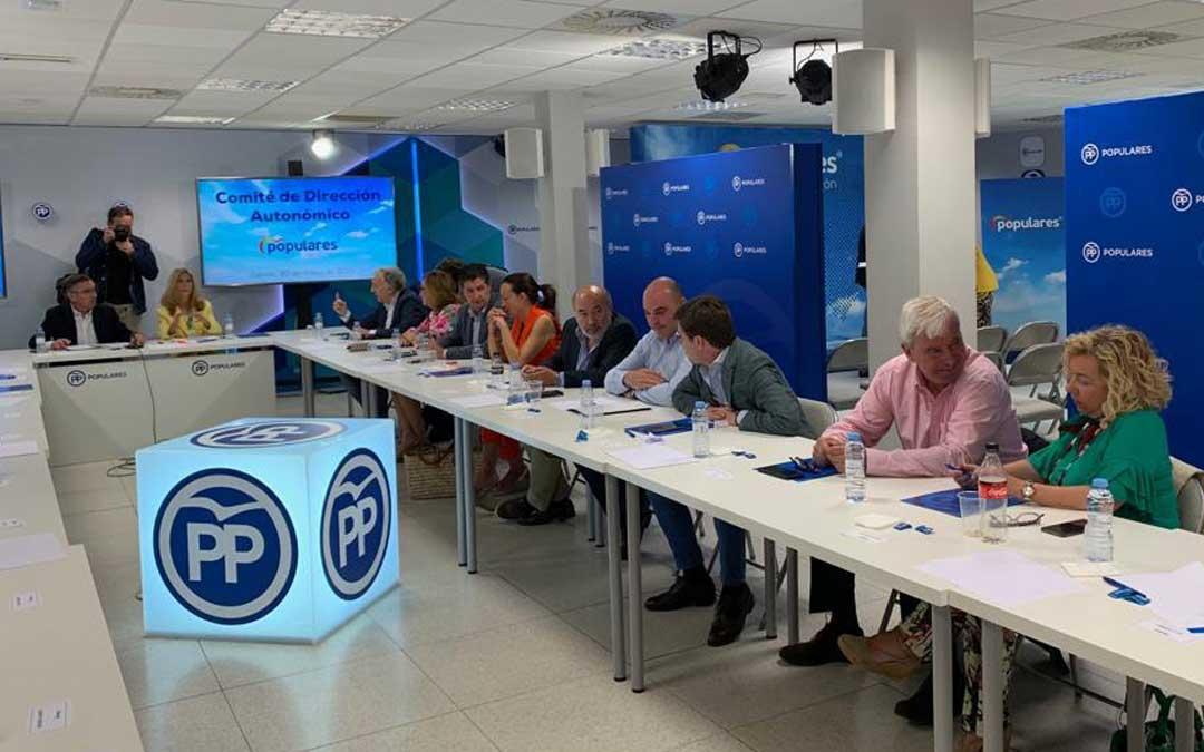 Reunión del Comité de Dirección del PP de Aragón este jueves al mediodía. Foto: PP