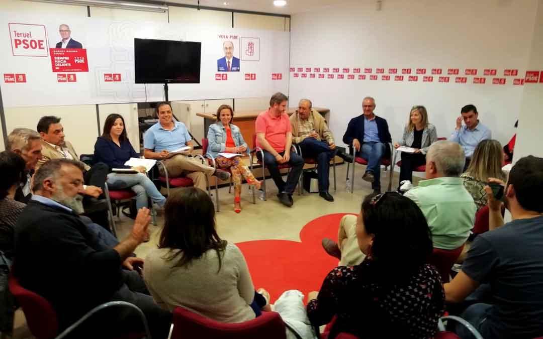 Reunión de la ejecutiva provincial del PSOE este miércoles en Teruel. Foto: PSOE