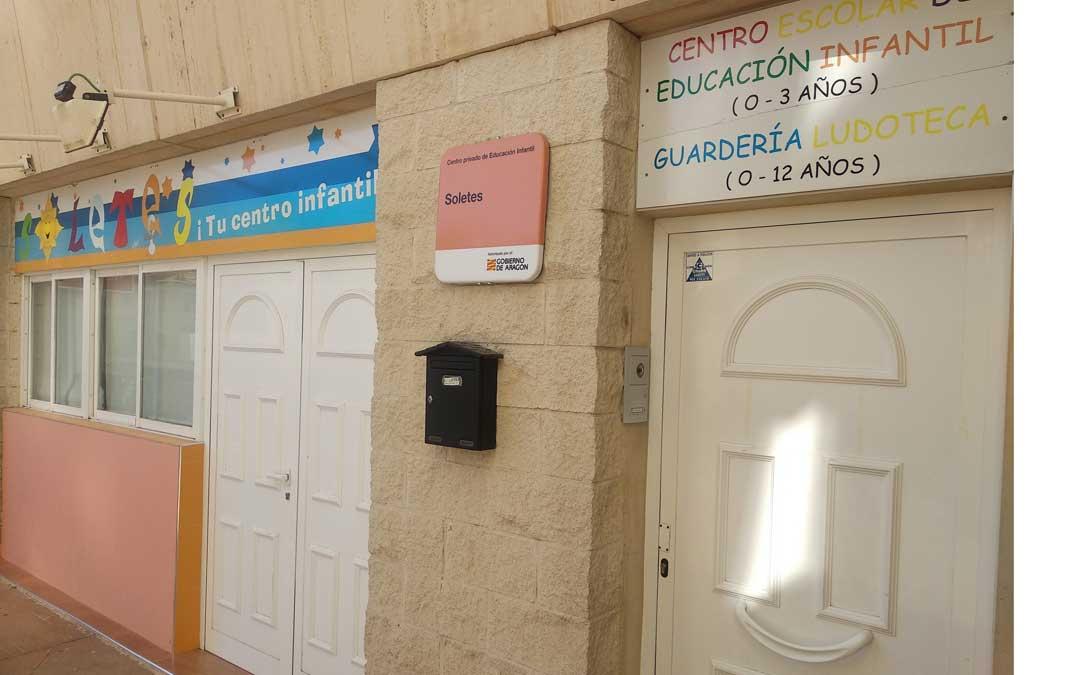 La escuela infantil Soletes de Alcañiz está en la plaza Paola Blasco