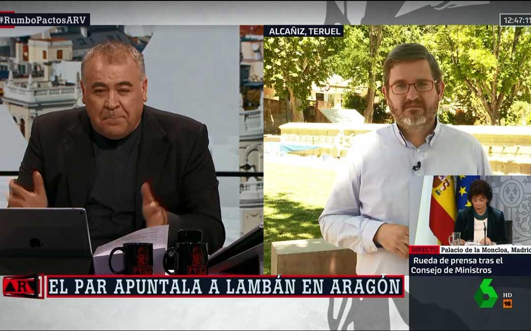 Urquizu ha intervenido este viernes en La Sexta desde la Glorieta de Alcañiz