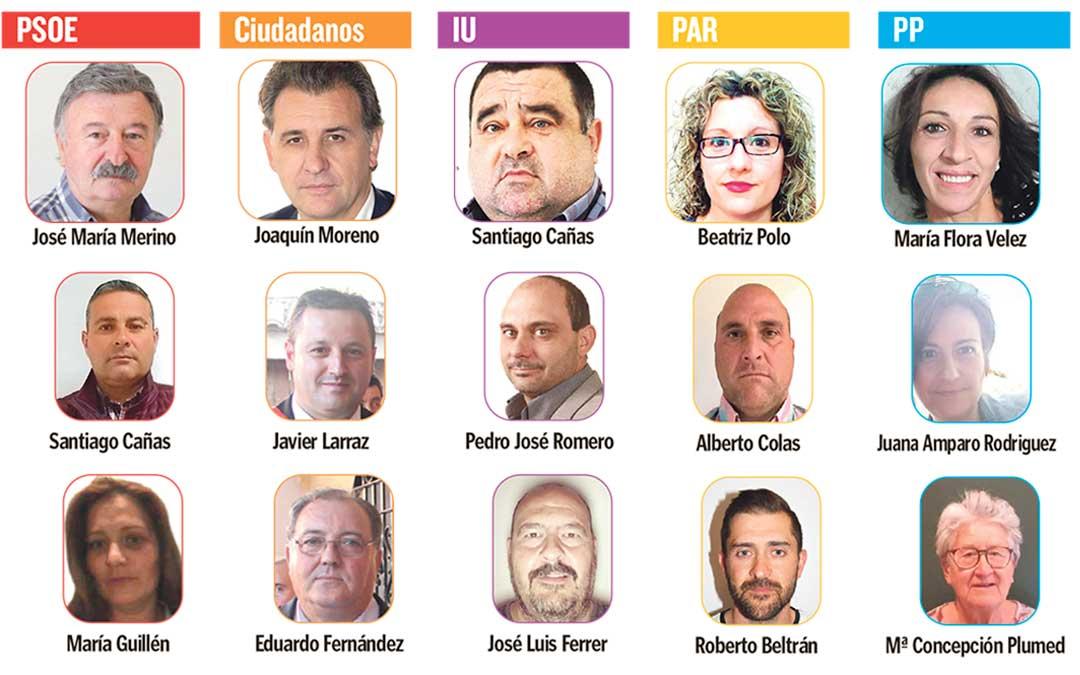 Candidatos a las elecciones municipales en Utrillas.