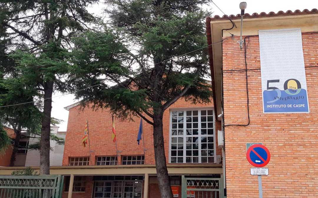 Imagen de la fachada del IES Mar de Aragón de Caspe.