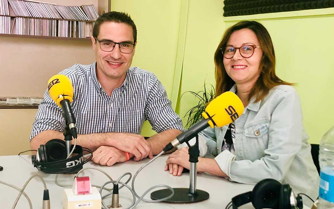 Cristian Poblador y Ana Jarque pertenecen a Ciudadanos Caspe.