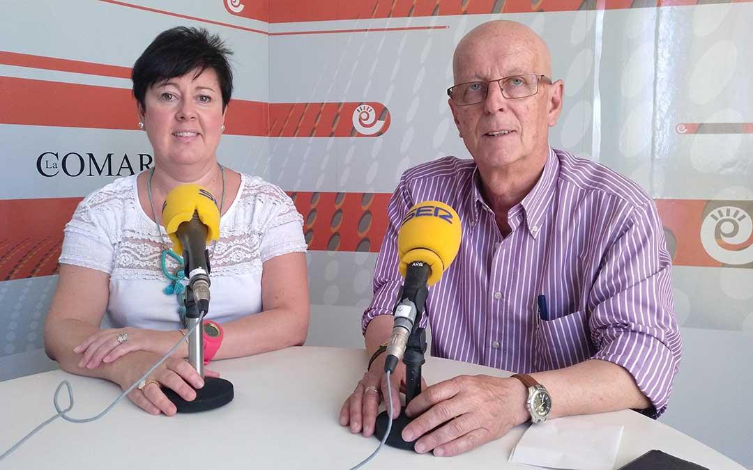 Ana Belén Andreu, vicepresidenta; y Manolo Ponz, presidente de la Comarca del Bajo Aragón.