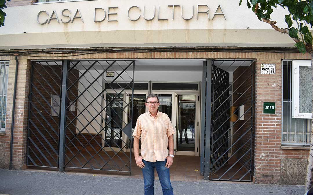 Rafael Lumbreras es el concejal de cultura de Caspe.