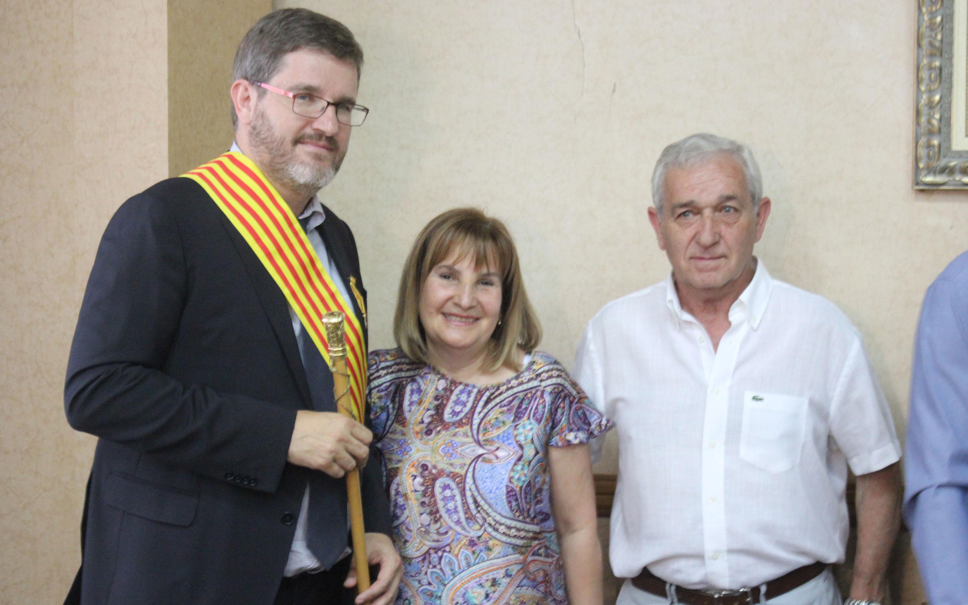 El alcalde con su familia