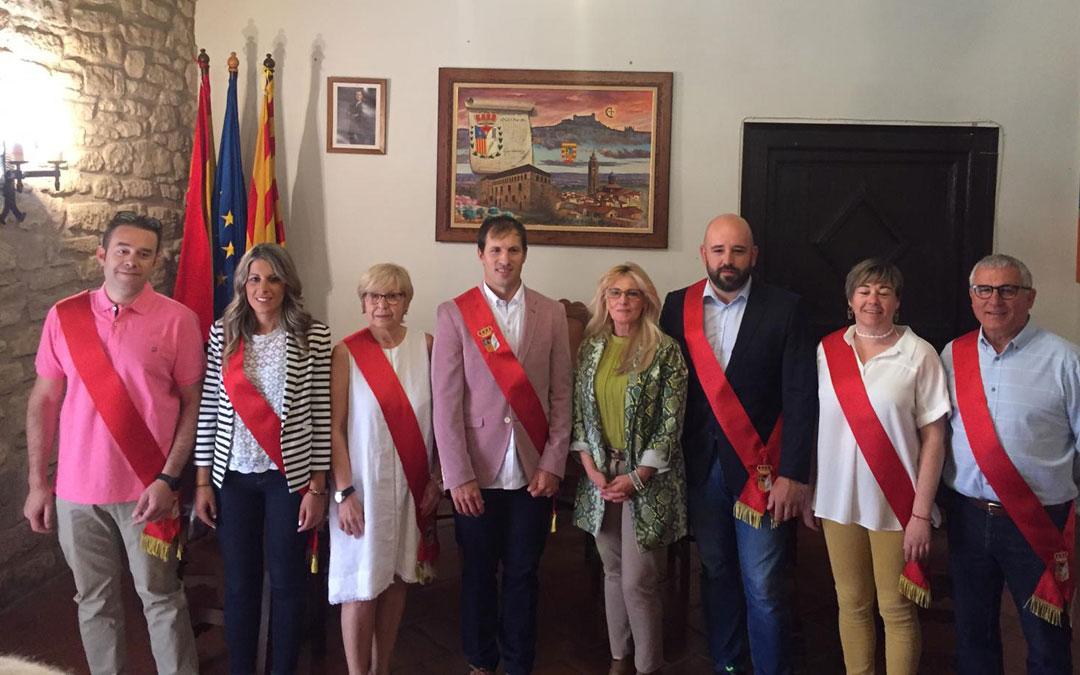 Los nuevos concejales de Valdealgorfa tomaron posesión de su cargo este sábado.