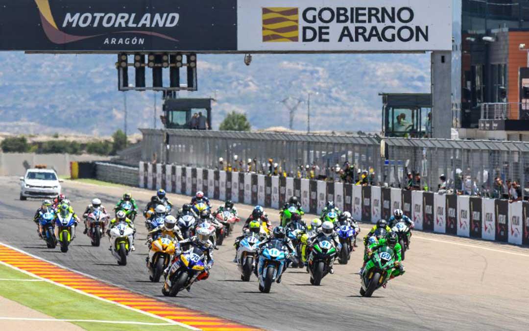 Salida de una de las carreras, el año pasado en MotorLand. // Agency Sport Media.