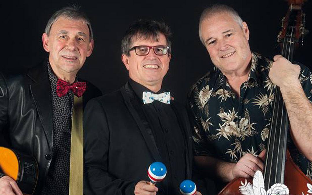 Imagen promocional de Los 3 Norteamericanos que abrirán en Albalate los Festivales de los Castillos.