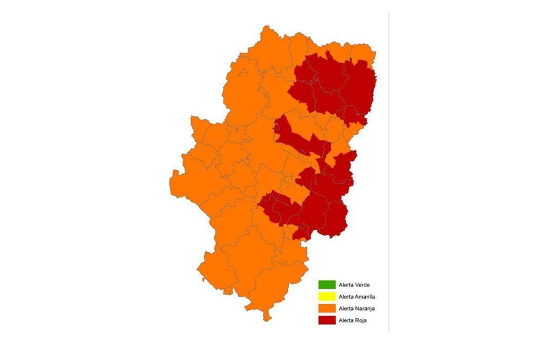 Alerta roja de peligro de incendios forestales en diversas zonas de Aragón