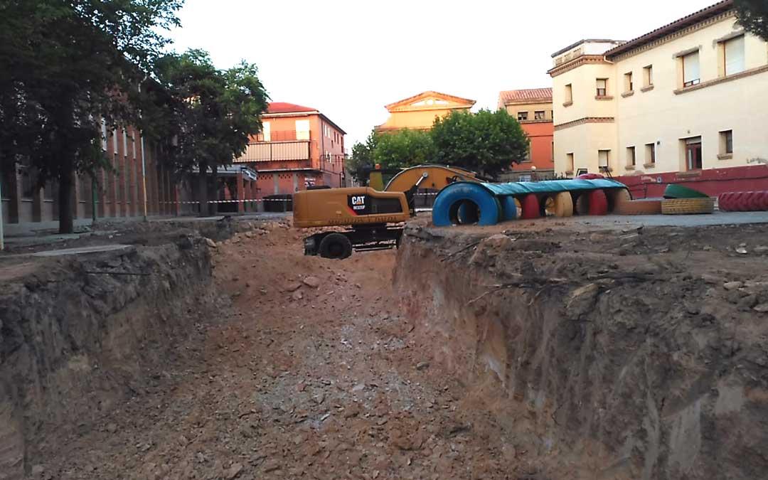 Imagen de las obras de ampliación de la residencia de Andorra. / La COMARCA