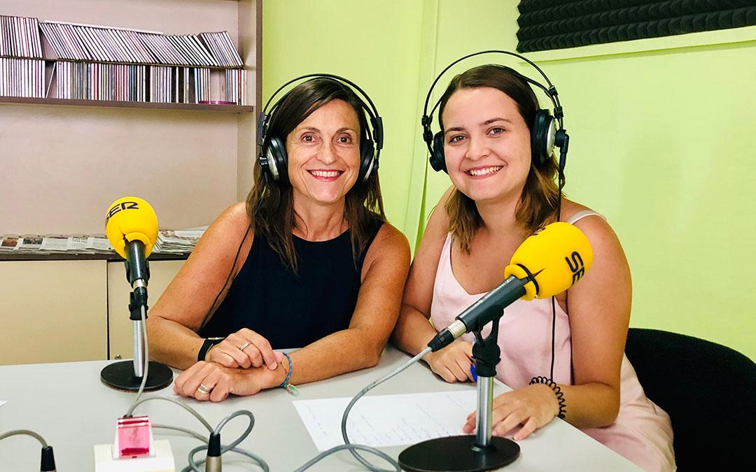 Cristina Bret y Pilar Sariñena.