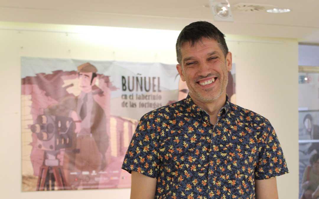 Josetxo Cerdán, director de Filmoteca Española, en el Festival Internacional Buñuel Calanda. / B. Severino
