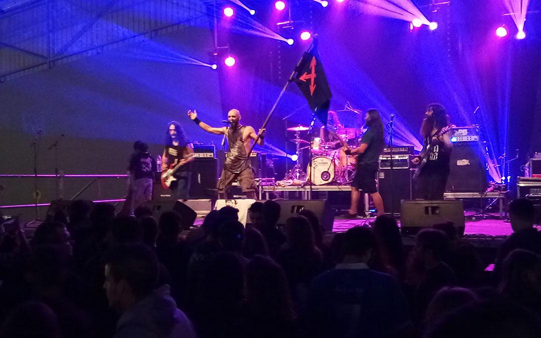 Imagen del concierto de Azero en la pasada edición del Carrasca Rock