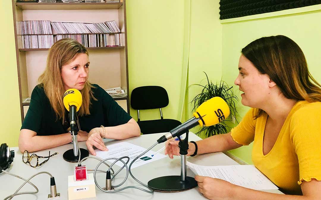 Merche Catalán y Pilar Sariñena.