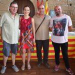 Los consejeros de CHA, Lumbreras, Cortés, Guardia y Prats.