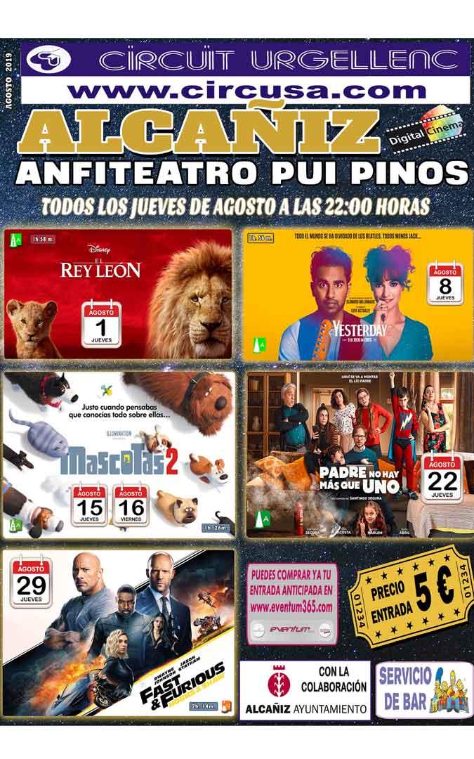 Cartel del cine de verano de Alcañiz