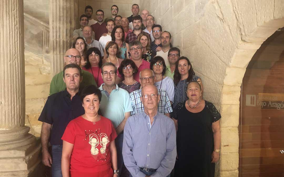 Foto de familia de los consejeros comarcales que han asistido este miércoles al mediodía al último pleno de la legislatura. Foto: L. Castel