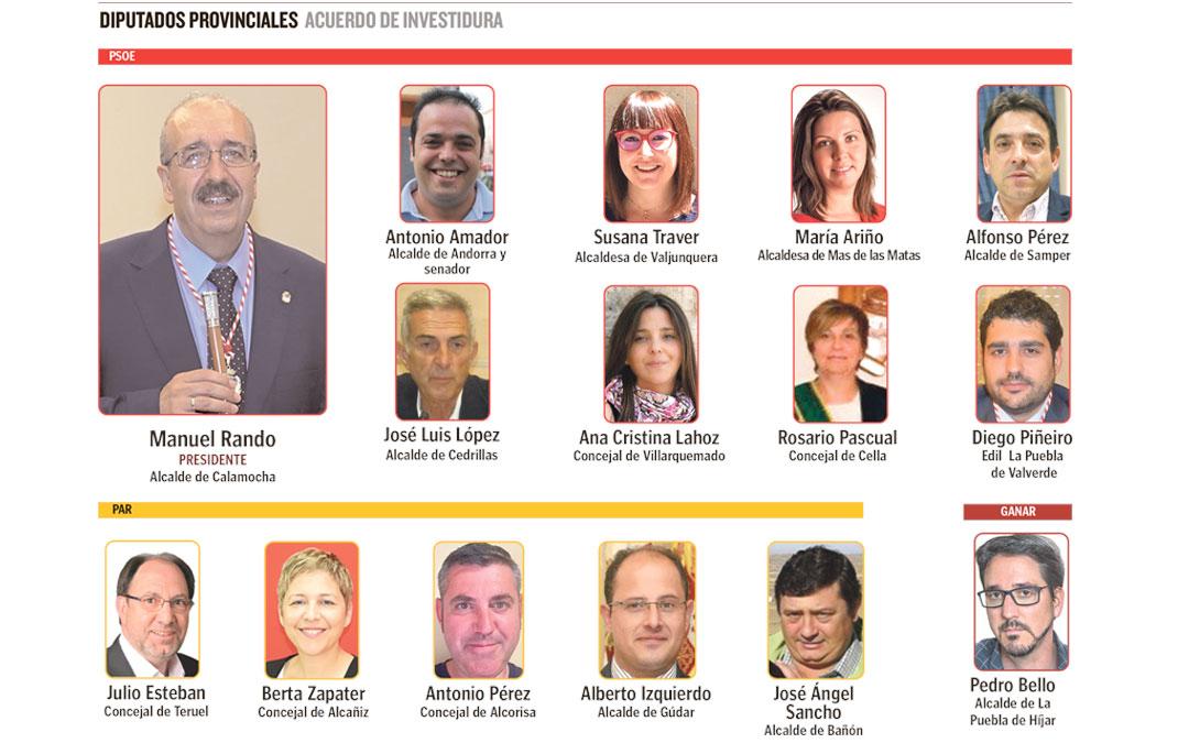 PSOE y PAR se han mostrado dispuestos a reeditar el acuerdo de investidura regional formando un gobierno que también podría incluir a Ganar, partido que ayer dio su voto al nuevo presidente, Manuel Rando.