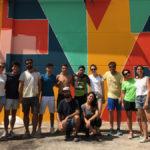 Miembros de Boa Mistura, Apadrina Un Olivo y jóvenes del campo de trabajo. // Esther Icart