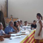 Una de las nuevas consejeras de C's, Ana María Jarque, durante la votación.