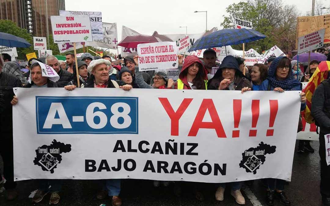Manifestación Teruel Existe Bajo Aragón