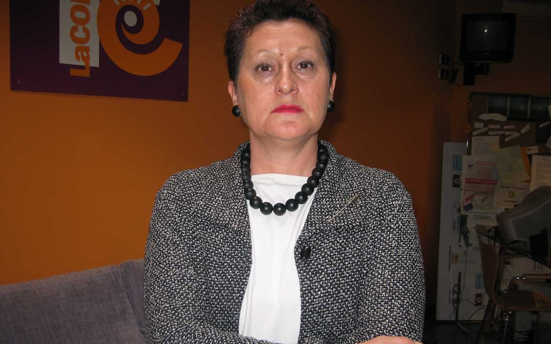 Merche Grau en su etapa de concejal en Alcañiz de 2003 a 2005