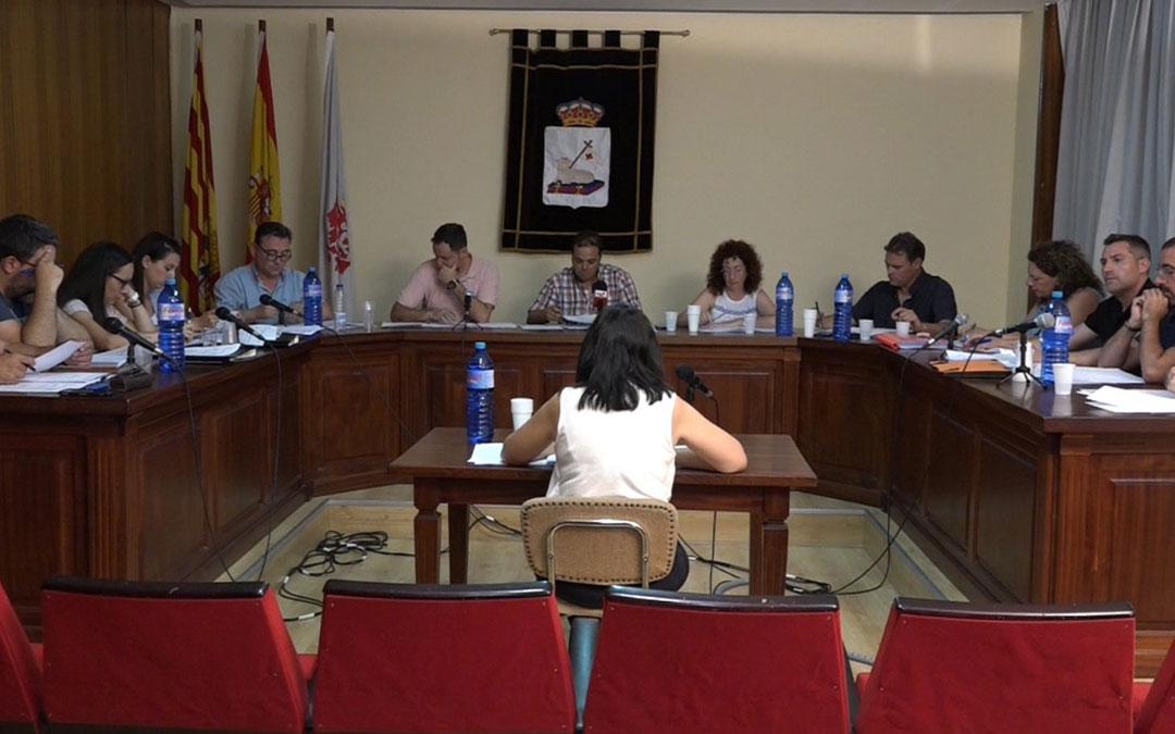 Imagen del primer pleno municipal del nuevo Ayuntamiento de Andorra celebrado este jueves.