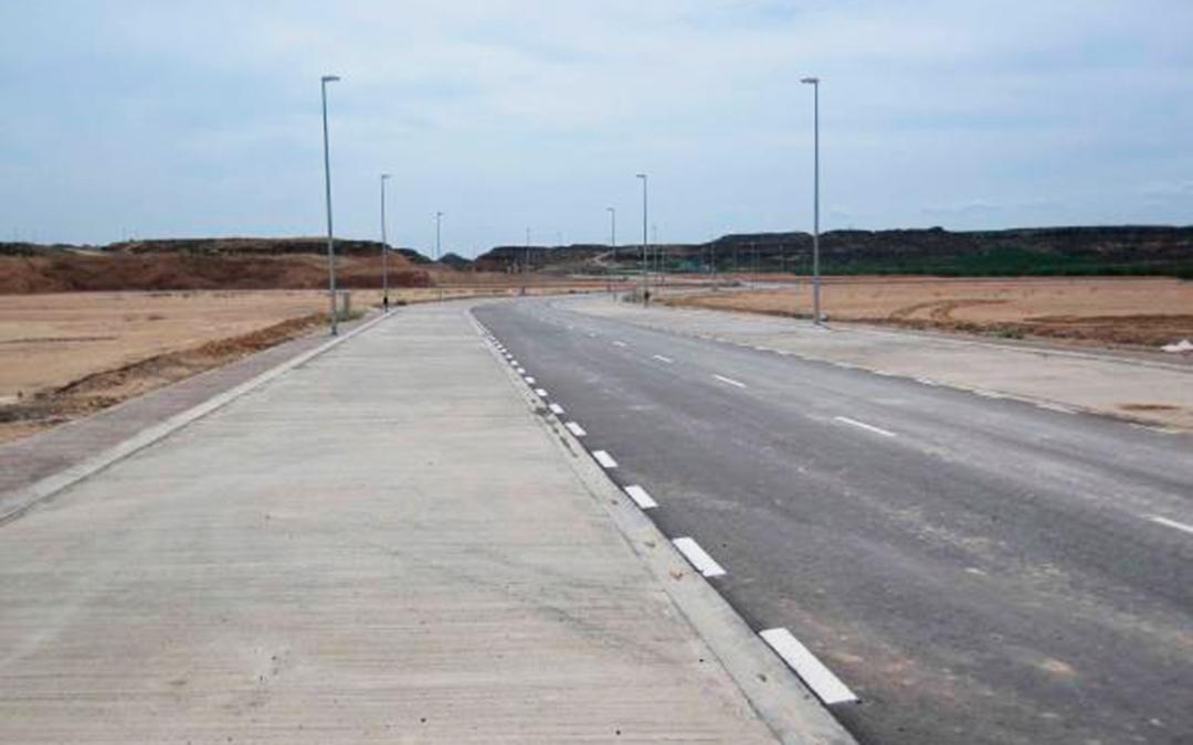Imagen actual del Polígono El Portal de Caspe.
