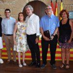 Los consejeros socialistas Valen, Solé, Jariod, Clavería, Domenech, Fernández, Ventura y Brunet.