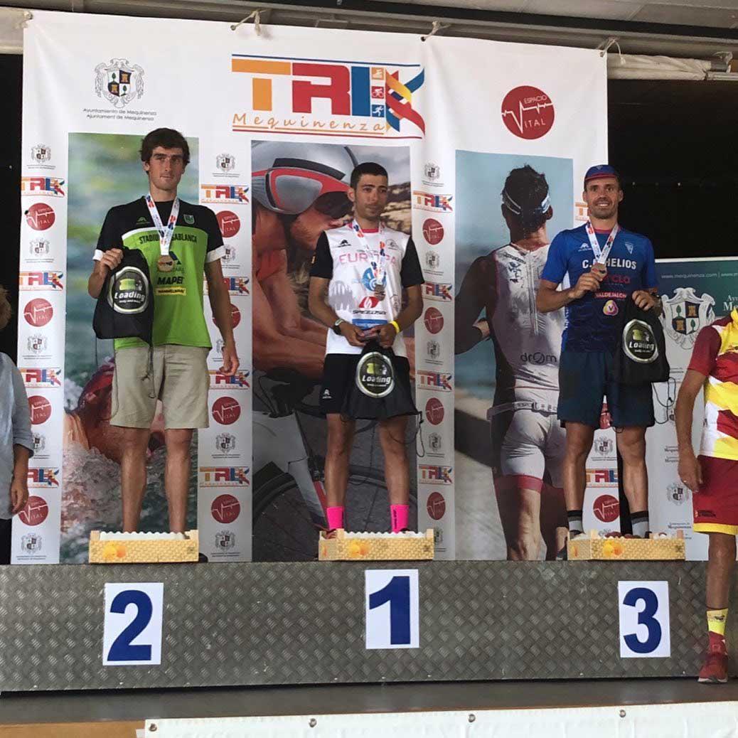 roberto ruiz campeon de aragon triatlon mequinenza