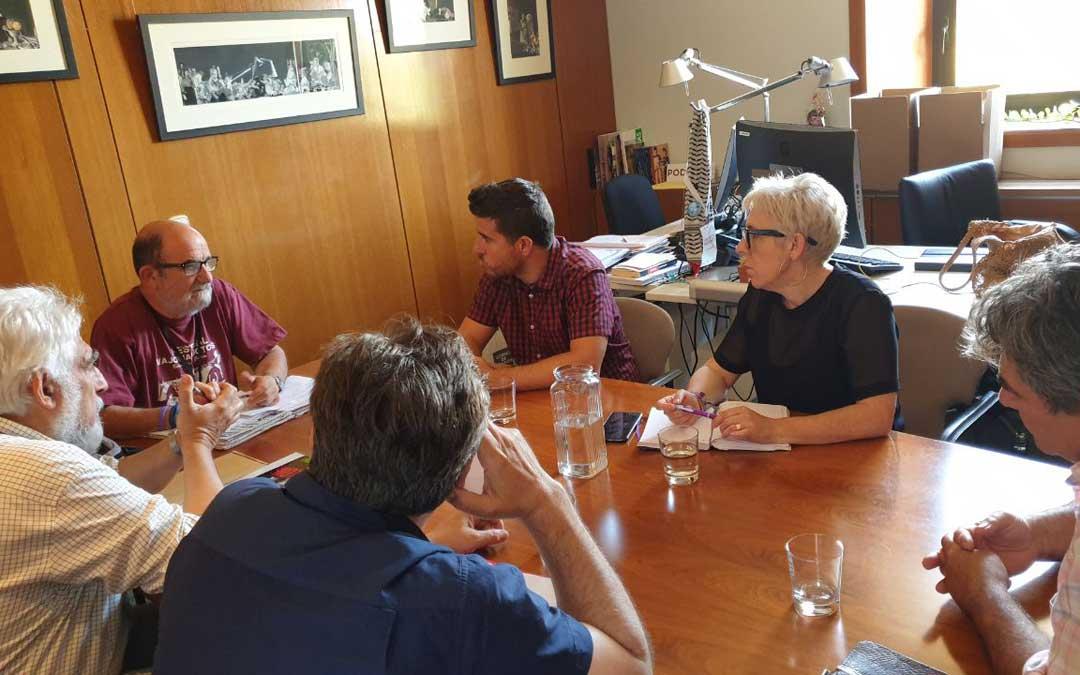 Reunión de Podemos con Teruel Existe este martes. Foto: Podemos
