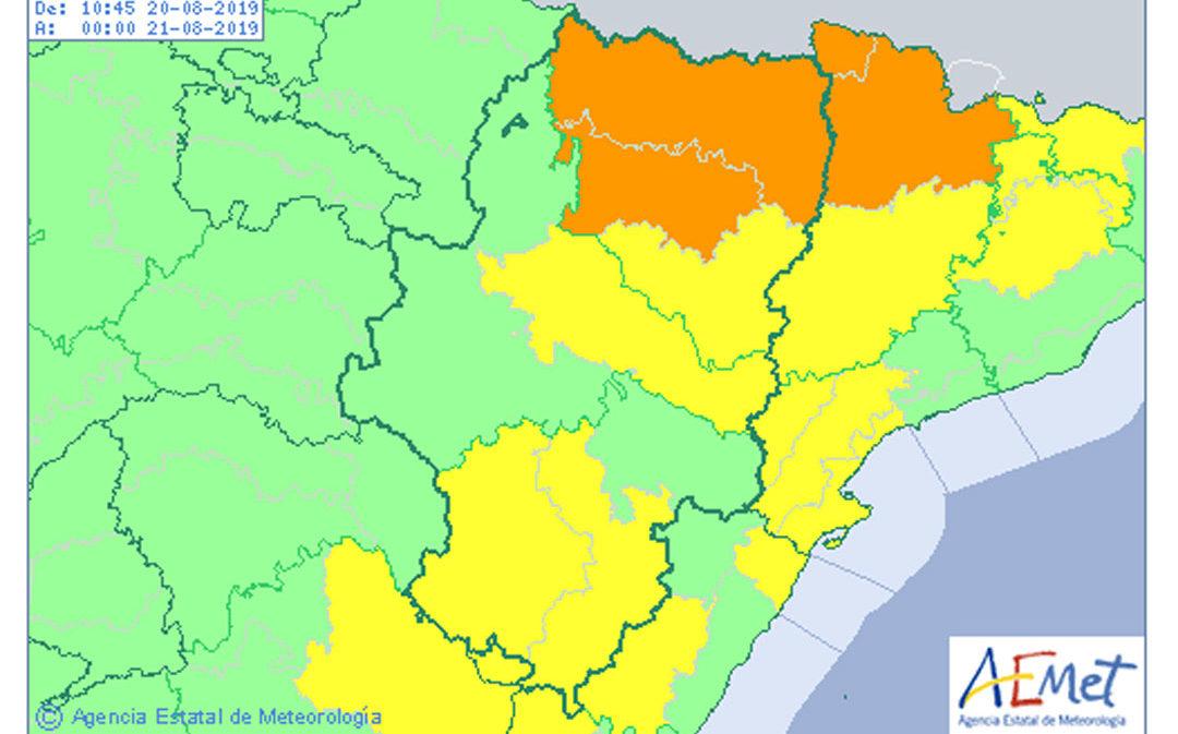 Aviso amarillo por lluvias y tormentas tras meses de extrema sequía