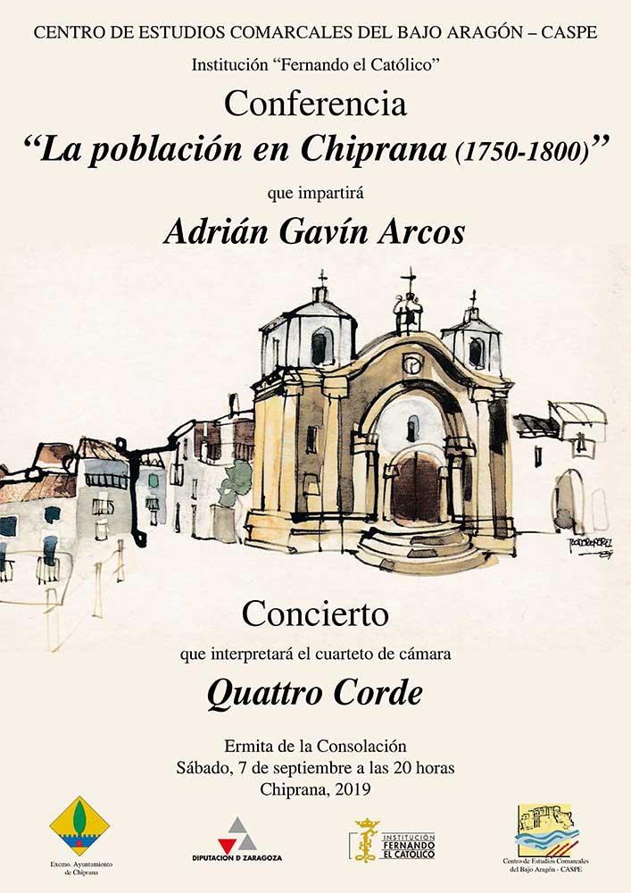 Conferencia y concierto en Chiprana