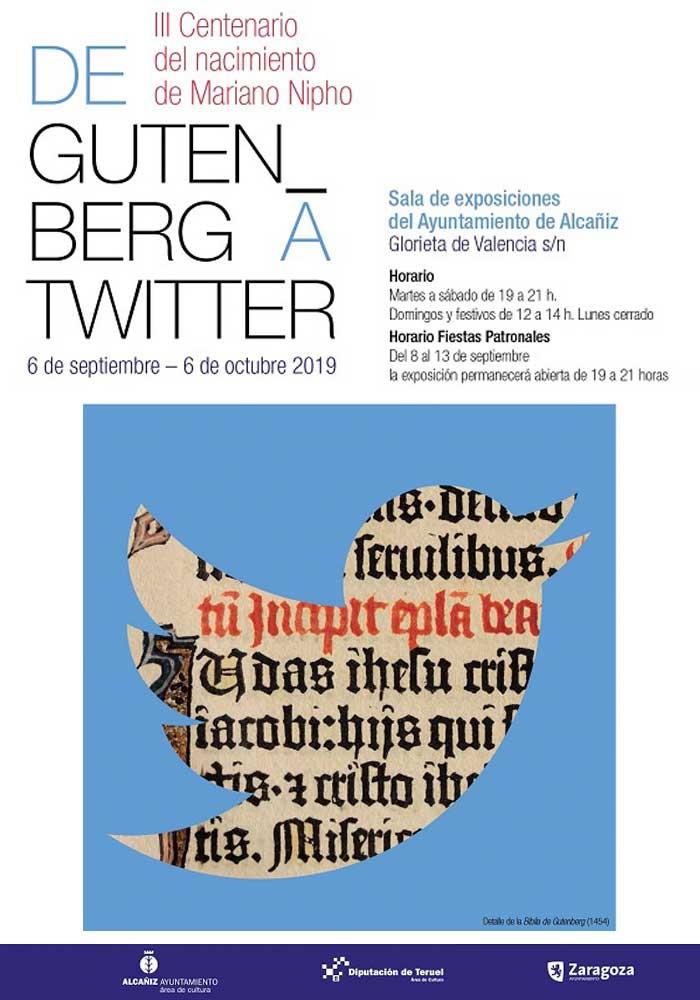 Exposición «De Gutenberg a twitter» en Alcañiz