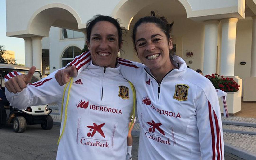 Silvia Meseguer y Marta Torrejón en febrero en Portugal donde la Selección disputó la Copa Algarve. / Twitter Selección Española Femenina de Fútbol