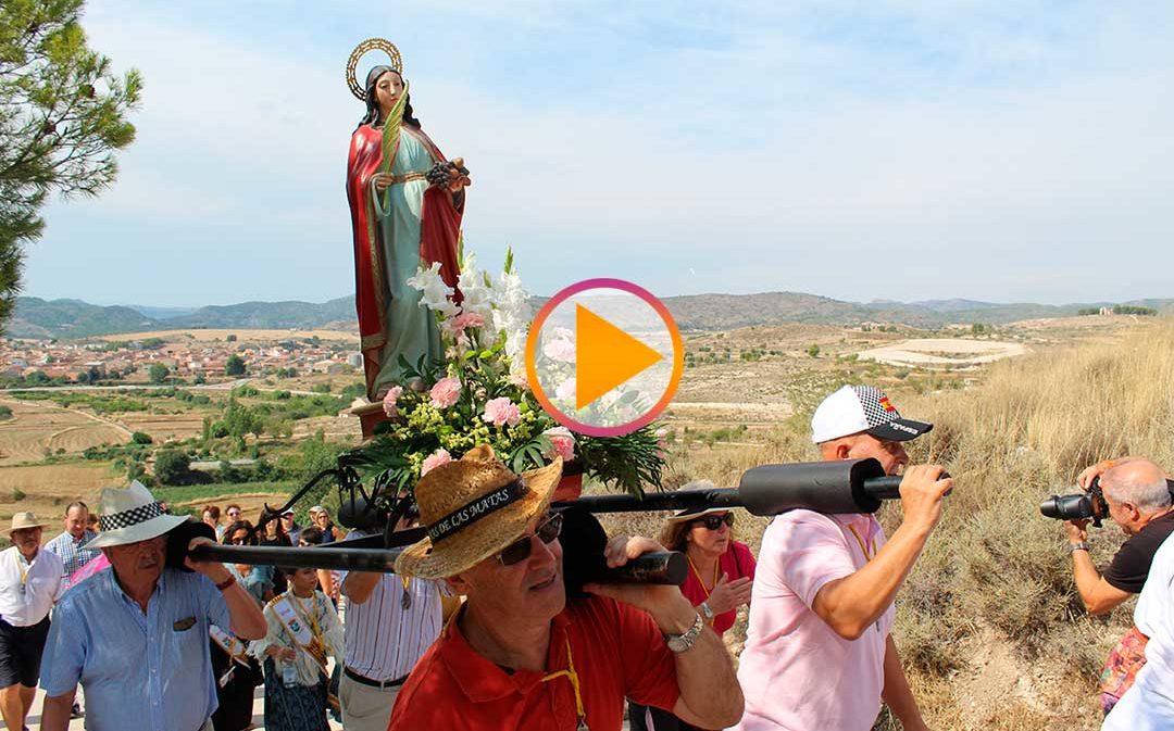 Mas de Las Matas honra a Santa Flora para clausurar sus fiestas