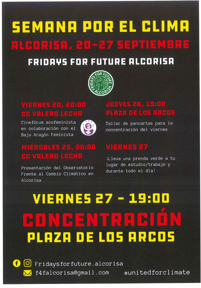 "Semana por el clima ""Fridays for future Alcorisa"""