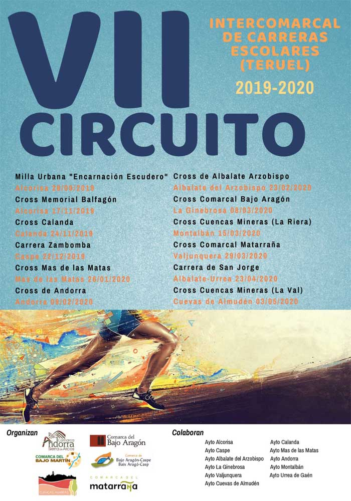 VII Circuito Intercomarcal de Carreras escolares de Teruel en Valderrobres