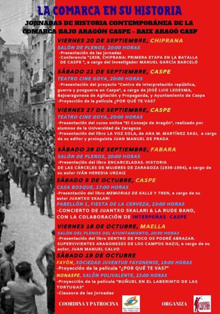 Jornada «La historia de la Comarca» en la Comarca Bajo Aragón Caspe