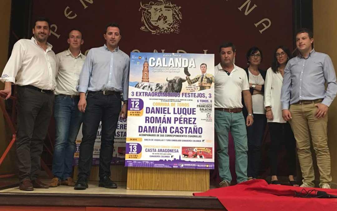 La presentación de los actos taurinos tuvo lugar en la Peña Taurina CalandinaTOROS