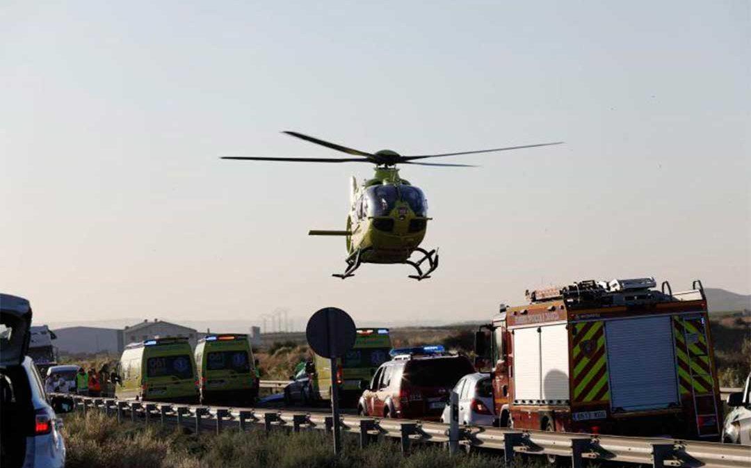 Los dos conductores implicados en el accidente de la N-232 dan positivo en el control de drogas
