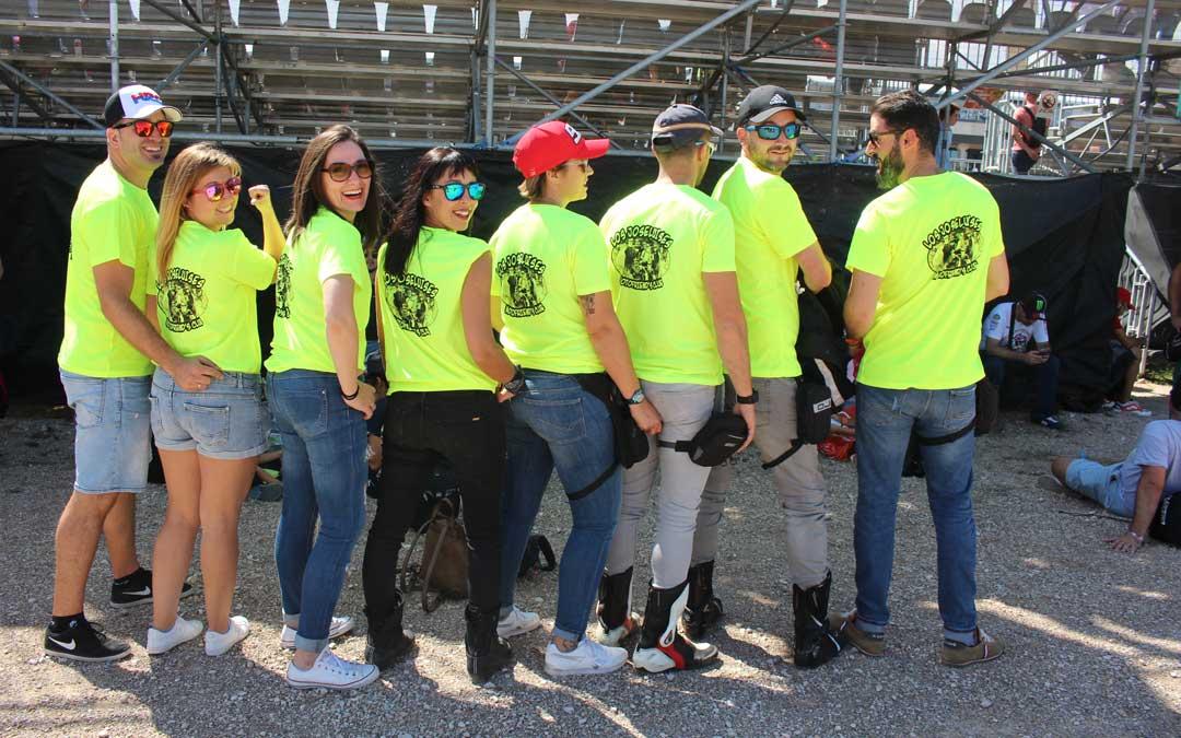 'Los JoséLuises', un grupo motero de Valladolid, el sábado en la Grada 1. / L. Castel