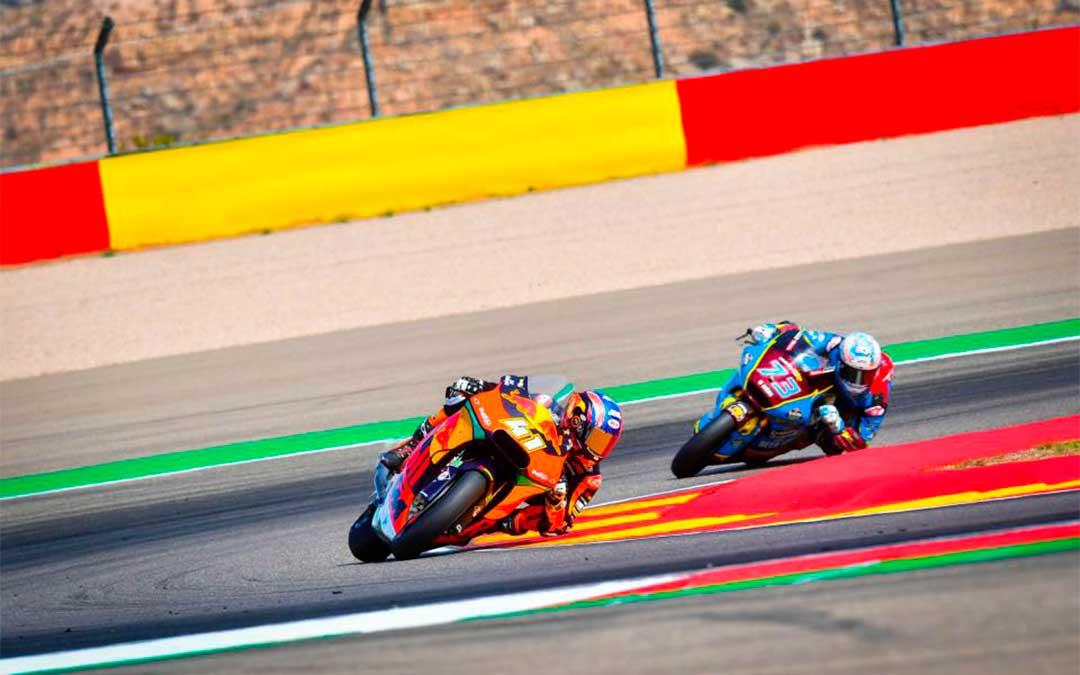 Brad Binder y Álex Márquez, de Moto2. // ASMedia.