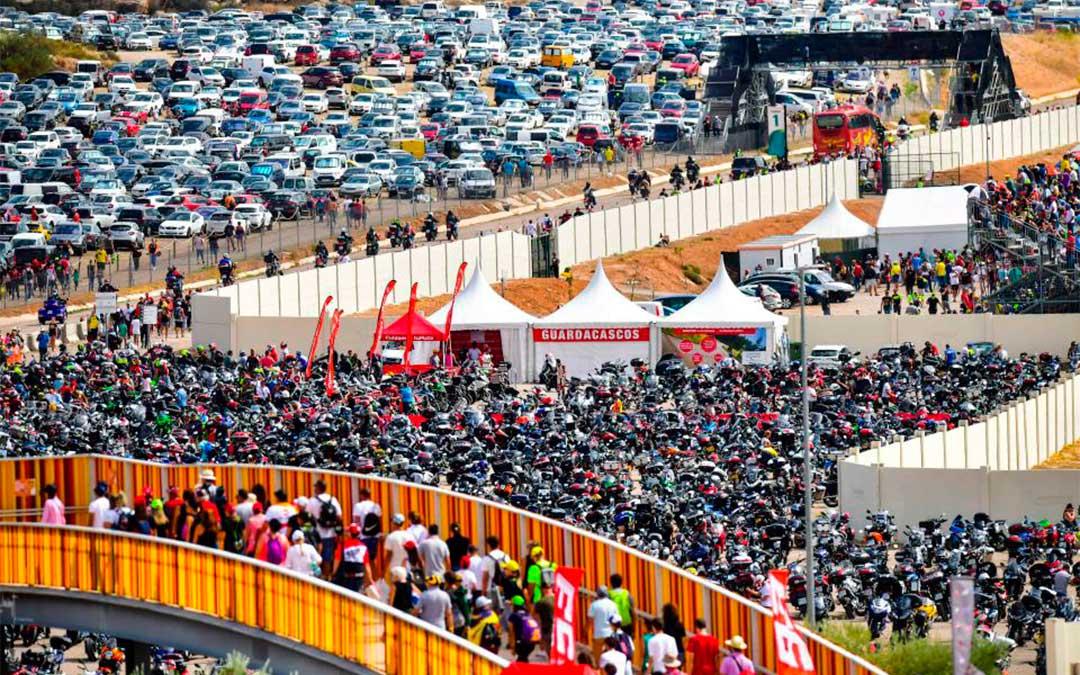Ambiente en Motorland durante el Gran Premio de Aragón 2019.// Agency Sport Media
