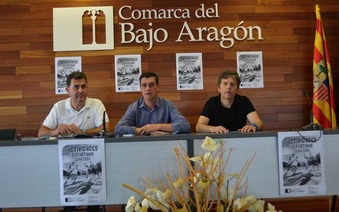 La presentación de las actividades de la Comarca del Bajo Aragón para el curso 19-20 se presentaron ayer en la sede comarcal