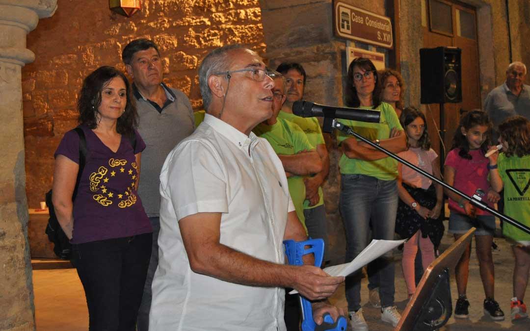 Salvador Berlanga fue el pregonero de honor de las fiestas de La Portellada