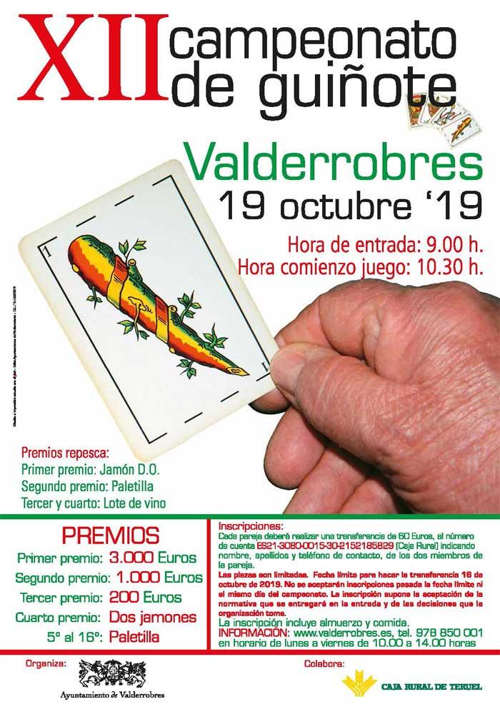 XII Campeonato de Guiñote en Valderrobres