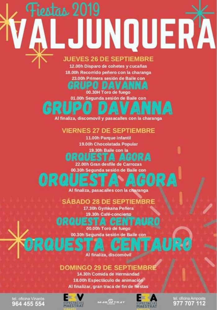 Fiestas de Valjunquera